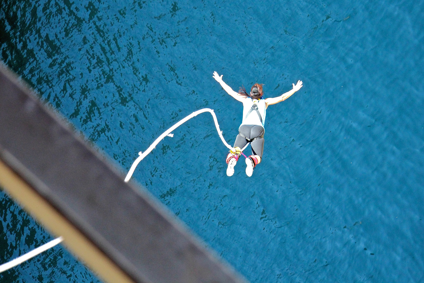 Bungee jumping in the Corinth Canal