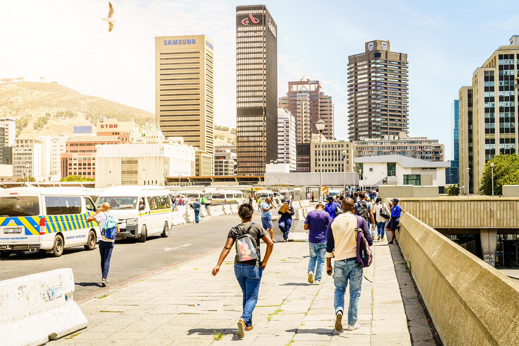 Commuters in Cape Town