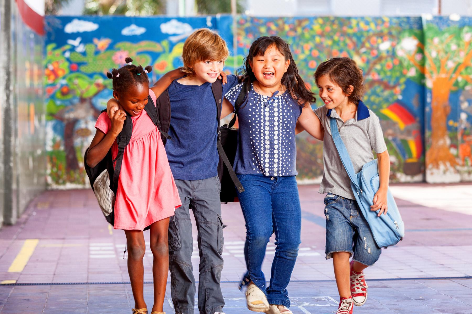 Diverse schoolchildren