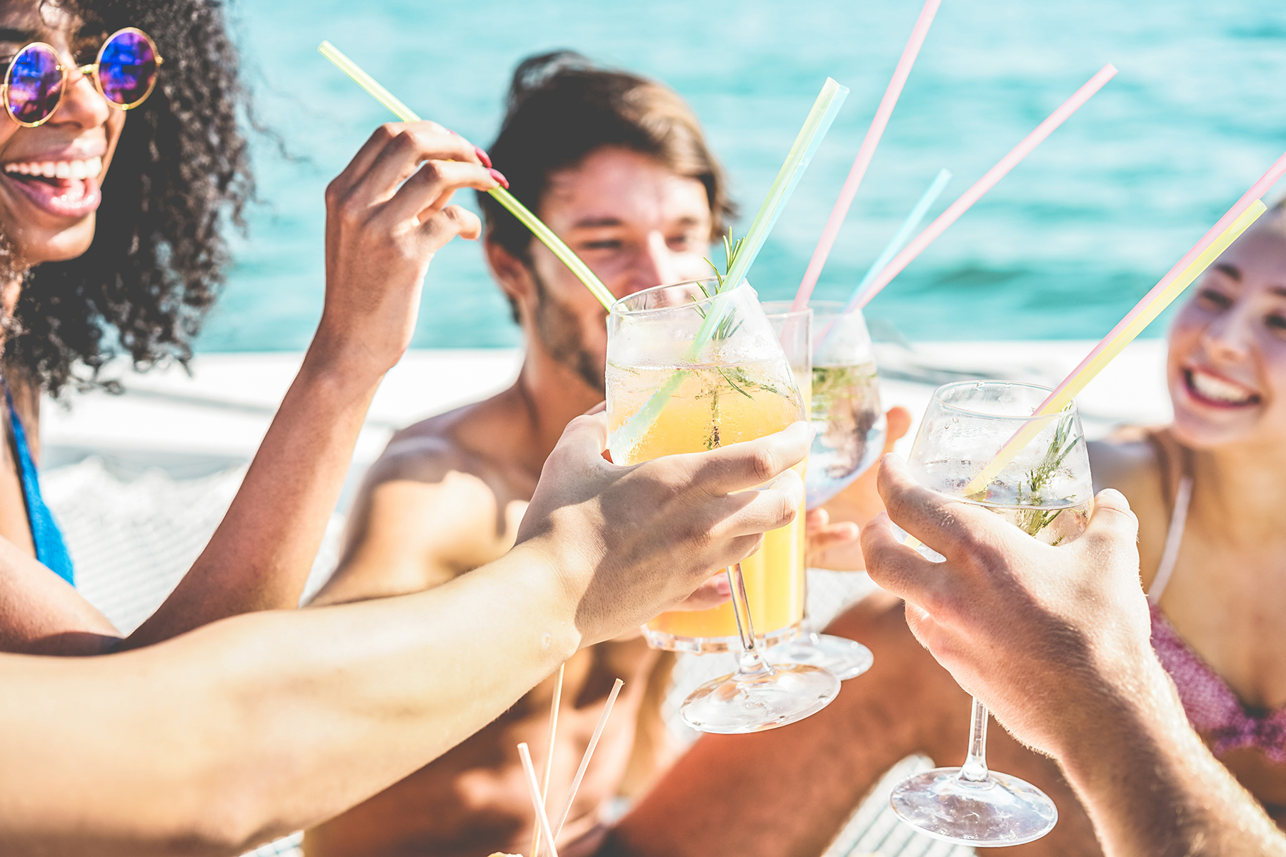 Saying 'cheers' in the Pacific with tropical drinks