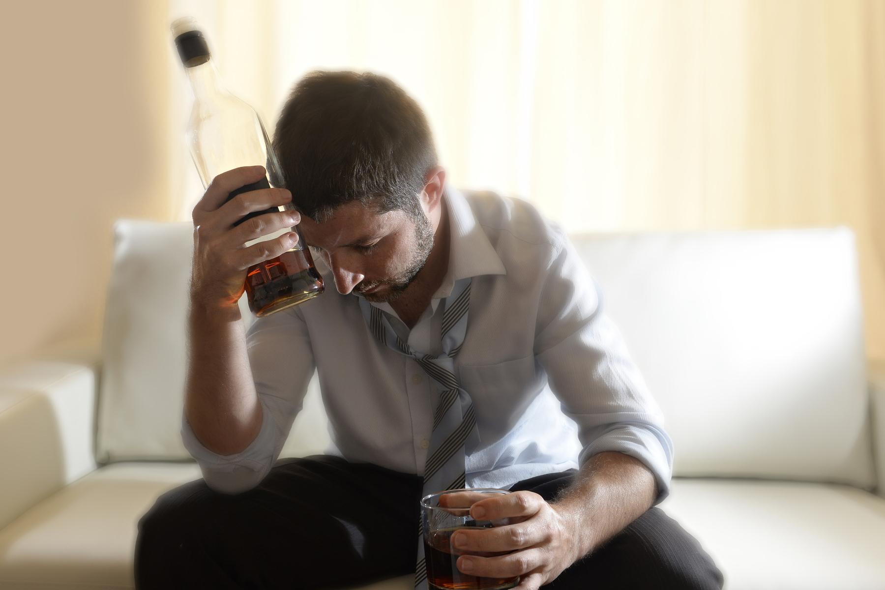 Struggling alcoholic