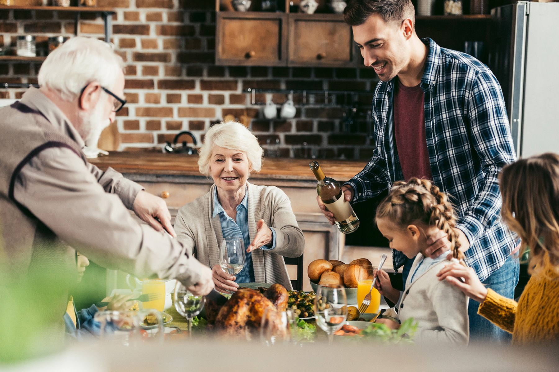 Sunday roast with grandma
