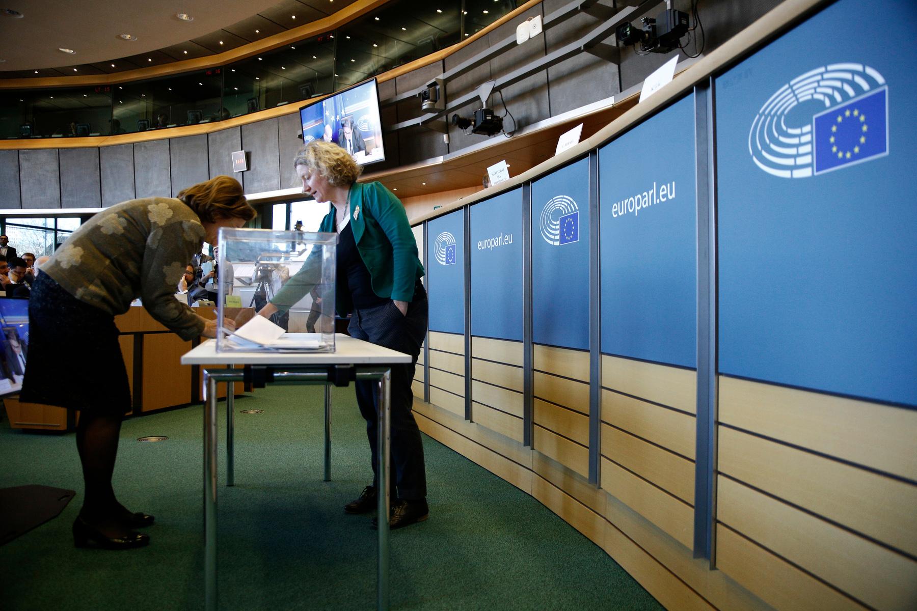 European Parliament ballot casting