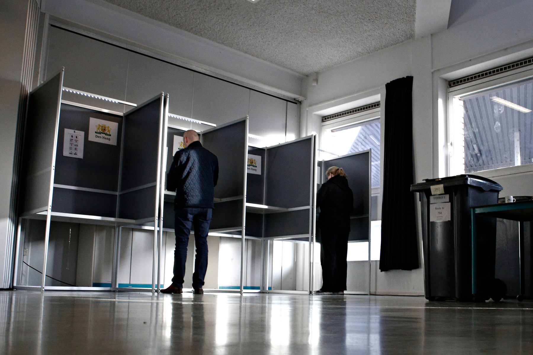 Polling station in the Netherlands