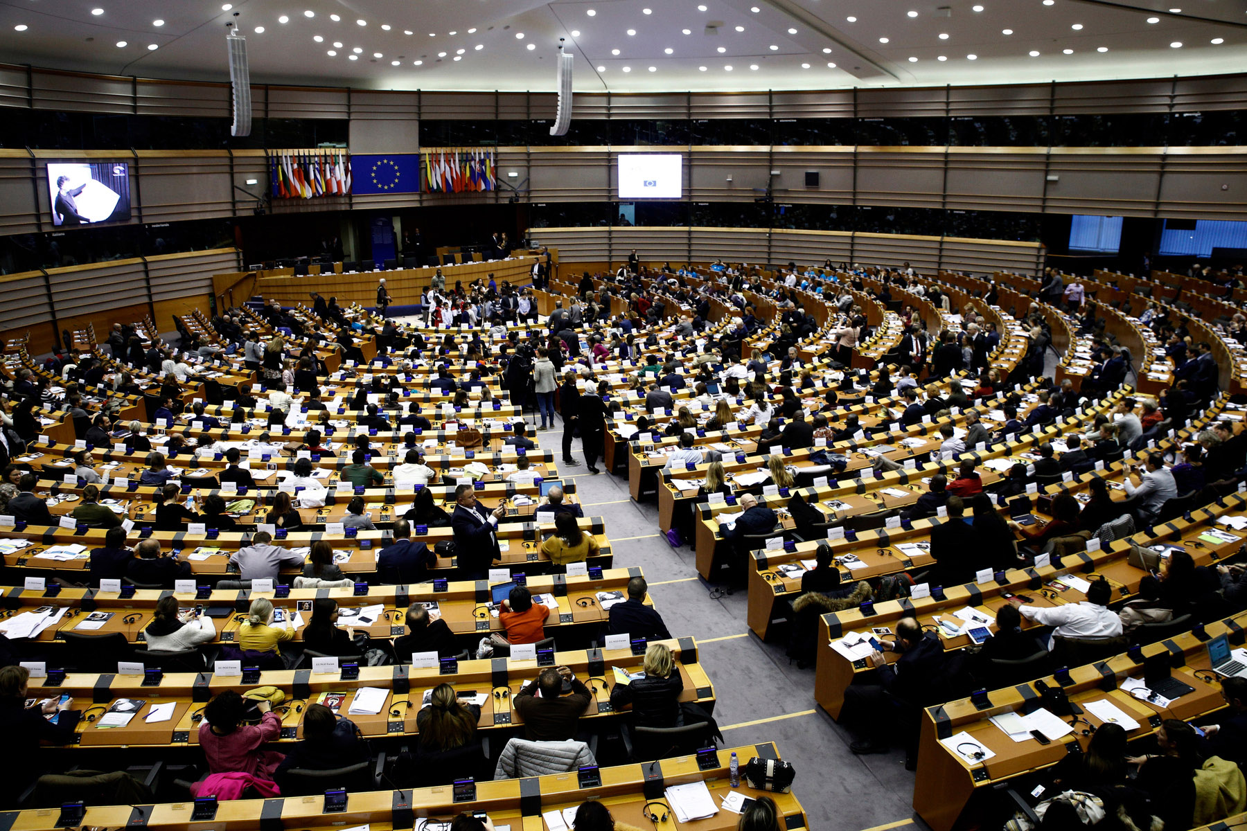European Parliament plenary room