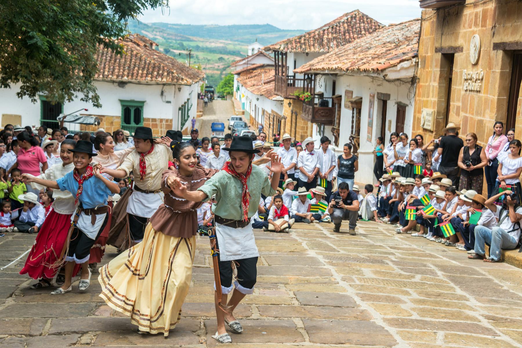 Dancers in Barachera, Colombia