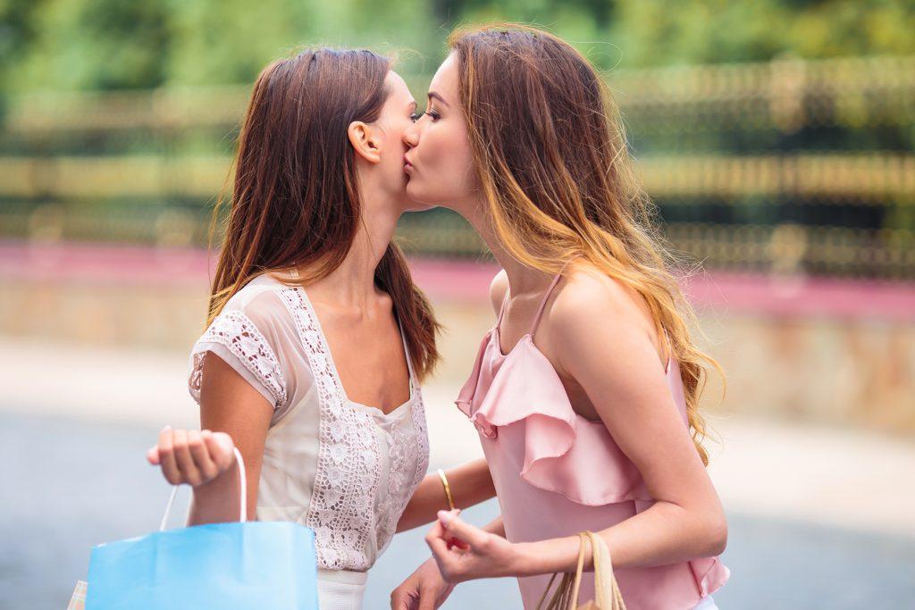 Two Girls Big Tits Kissing