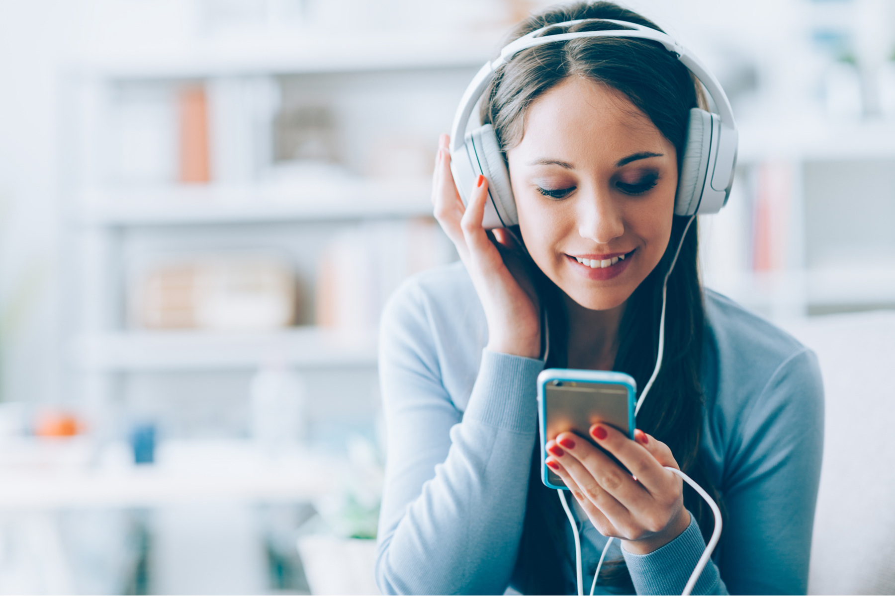 Listening on headphones