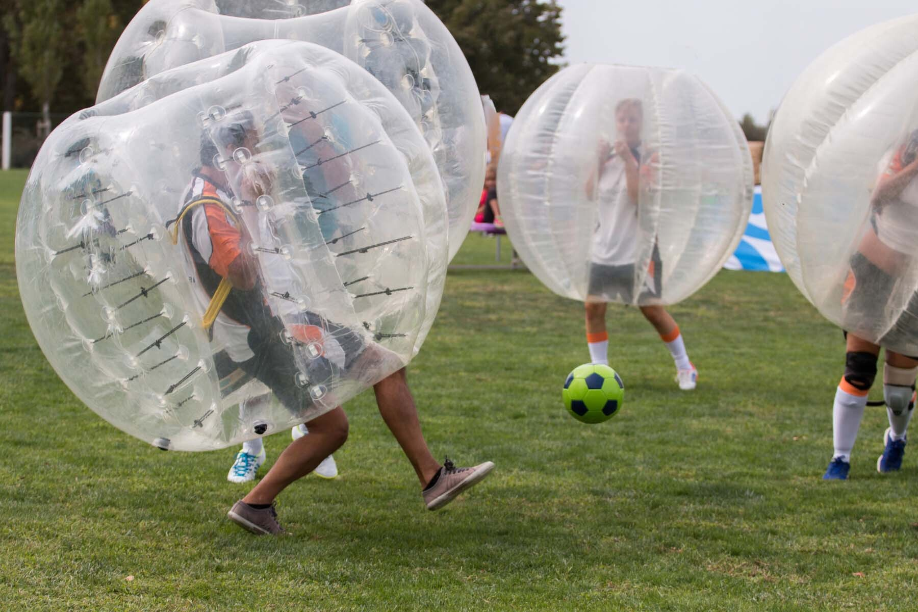 Bubble football at a stag party