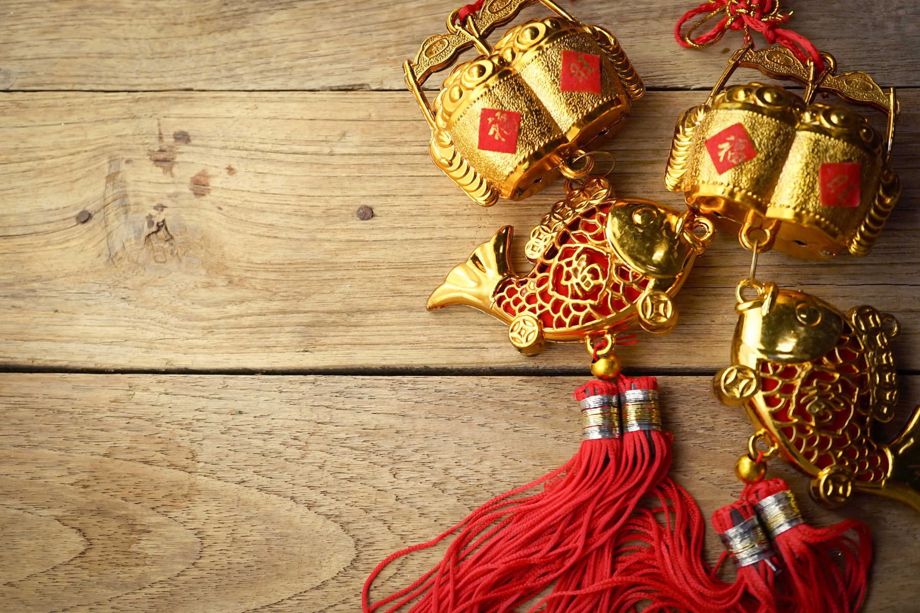 Chinese New Year fish decorations