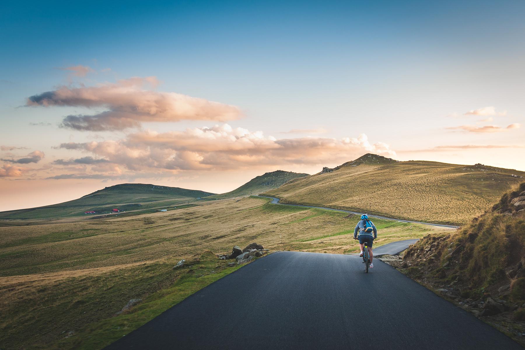 Cyclist in Romania