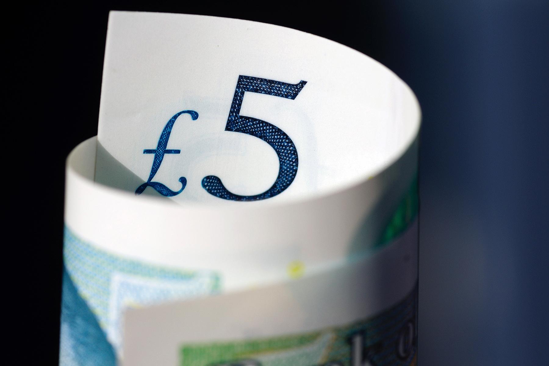 Five British pounds