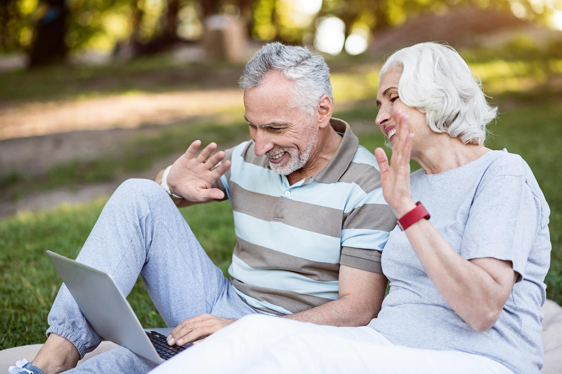 Grandparents using Skype