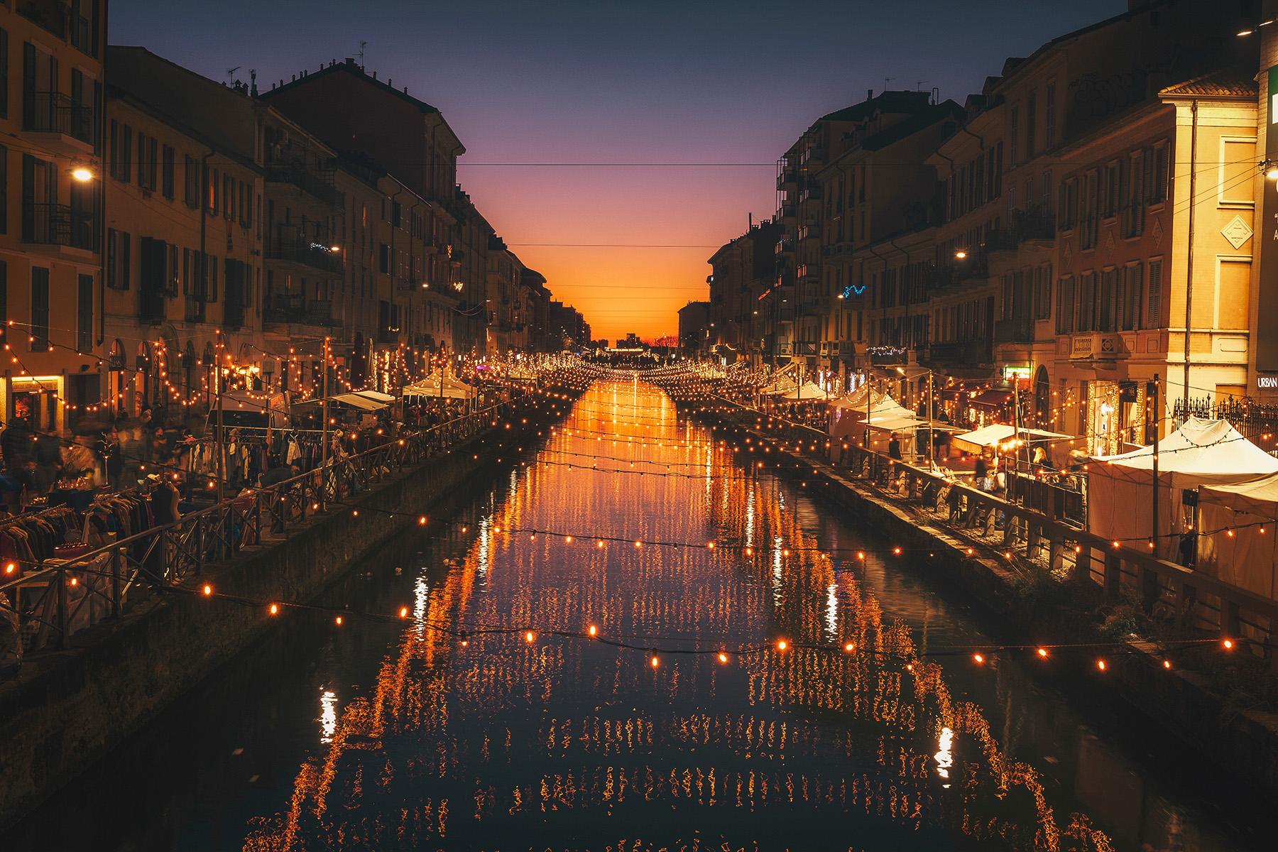 Milan riverside cafes