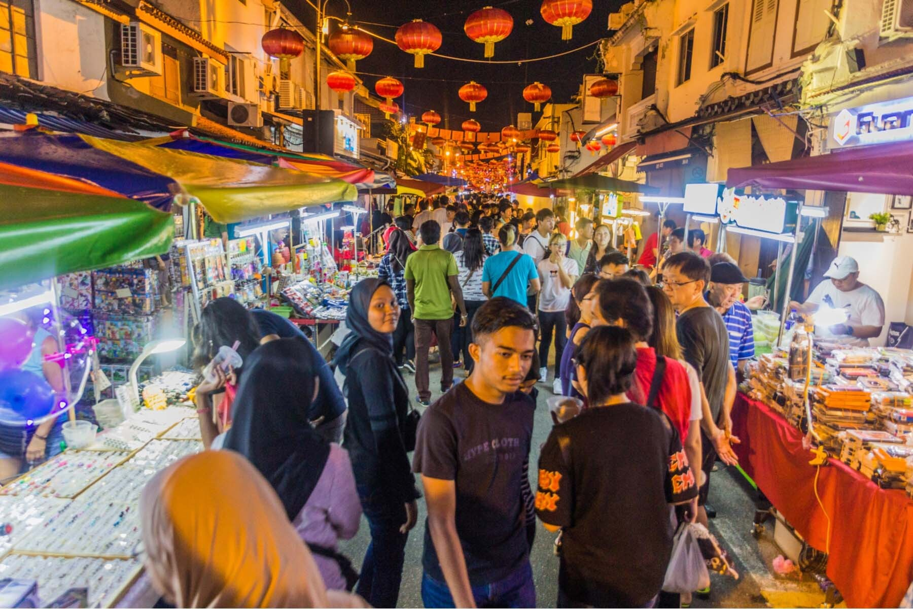 Night market in Melacca