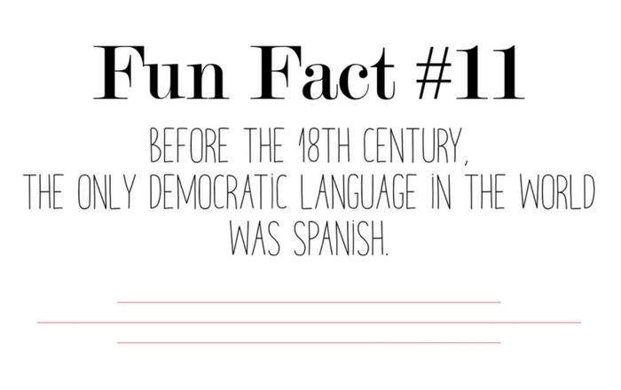 Fun fact eleven