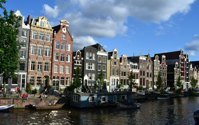Canalside houses in Amsterdam