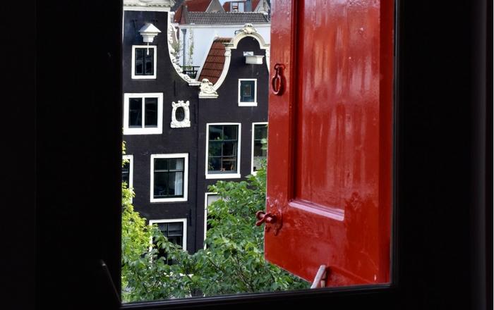 A window in a Dutch house