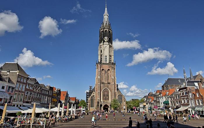 The city center of Delft