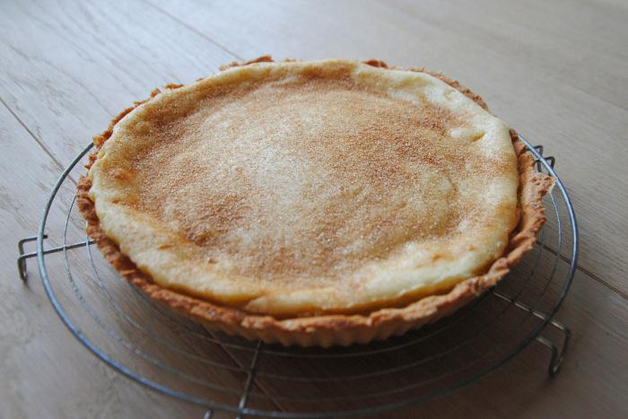 South African recipes: melktert