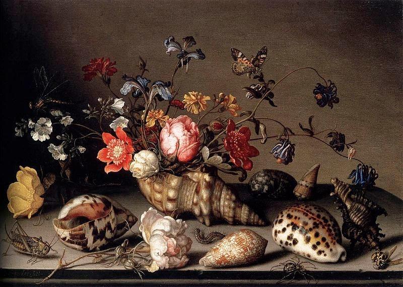 A still-life painting by Balthasar van der Ast