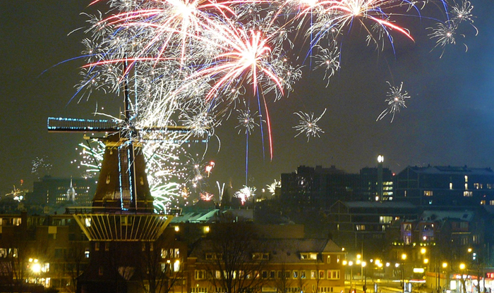New Year's Eve fireworks in the Netherlands