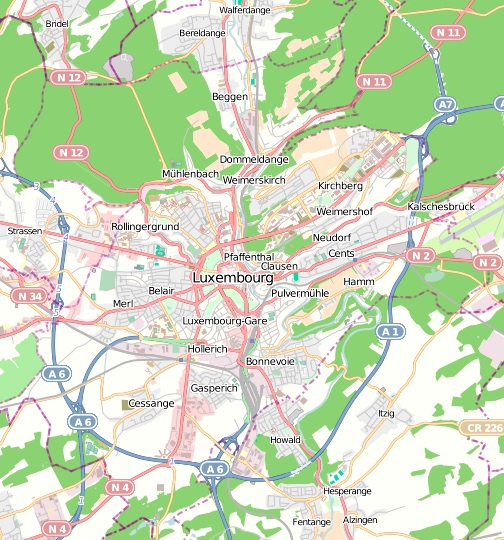 Map of Luxembourg City