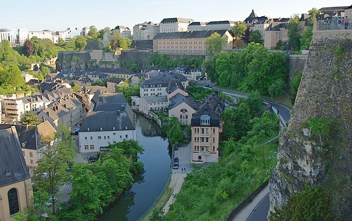 Grund sits below Luxembourg City's historical center