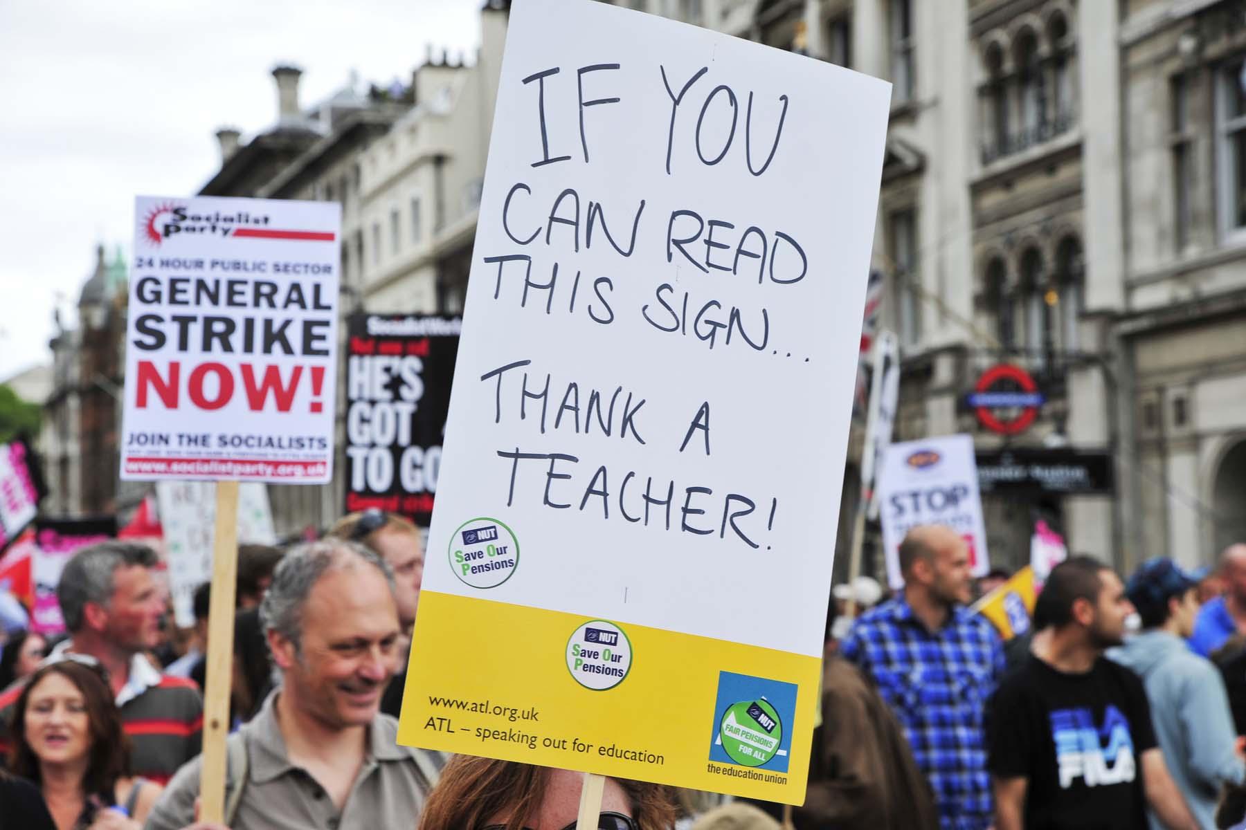 teacher strike in the UK
