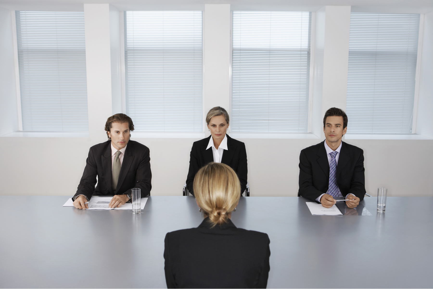 Applicant at a panel interview