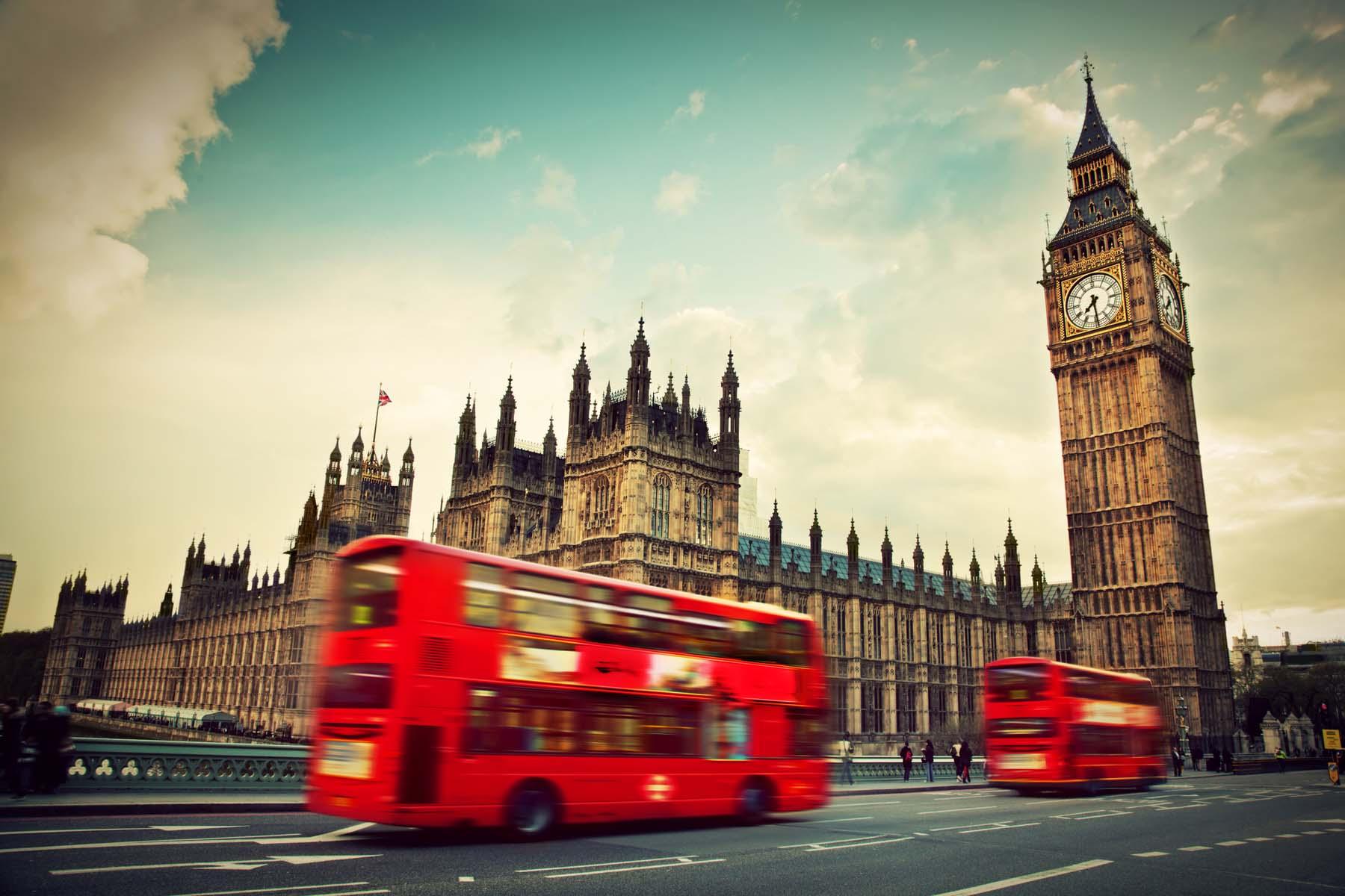UK red bus London