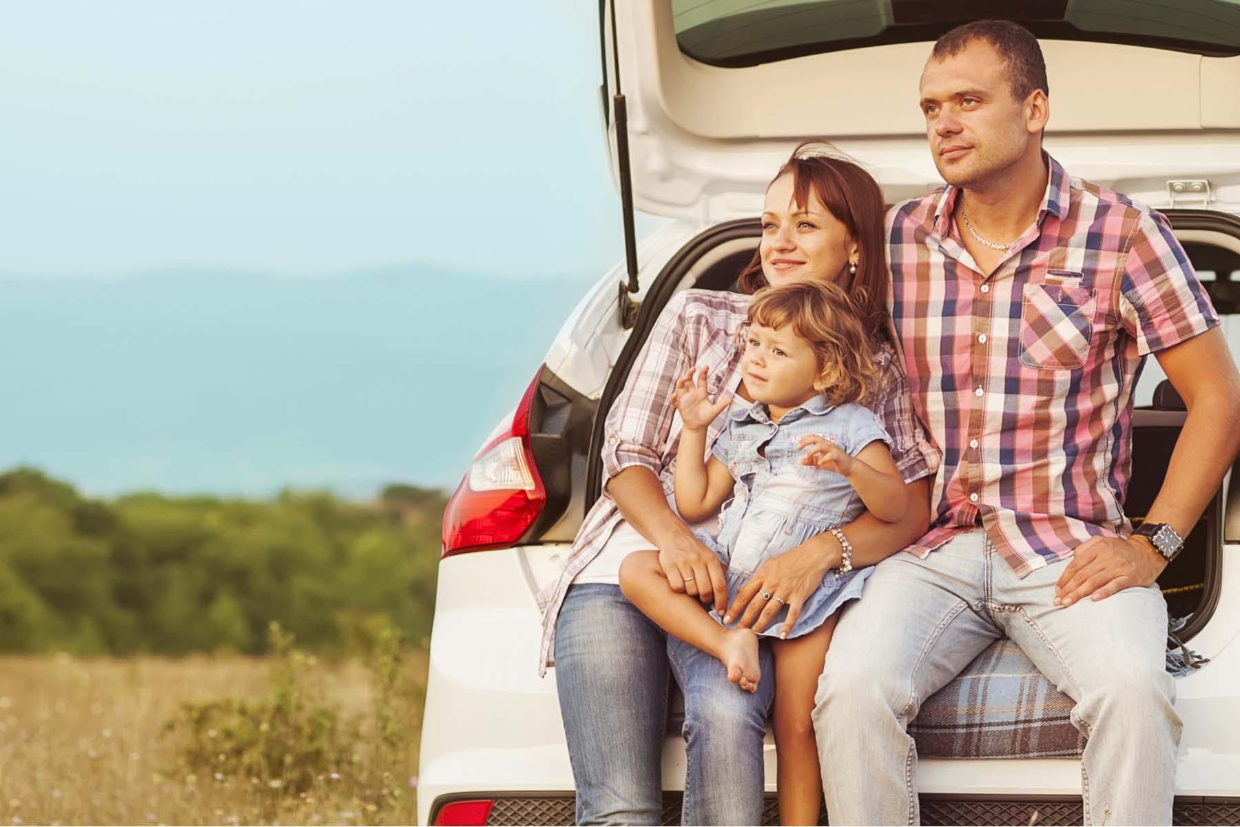 Family in the UK car