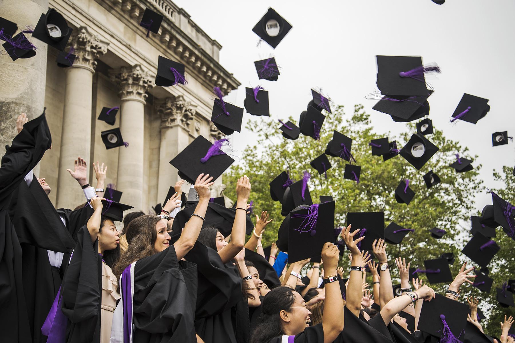 A graduation ceremony at Portsmouth University