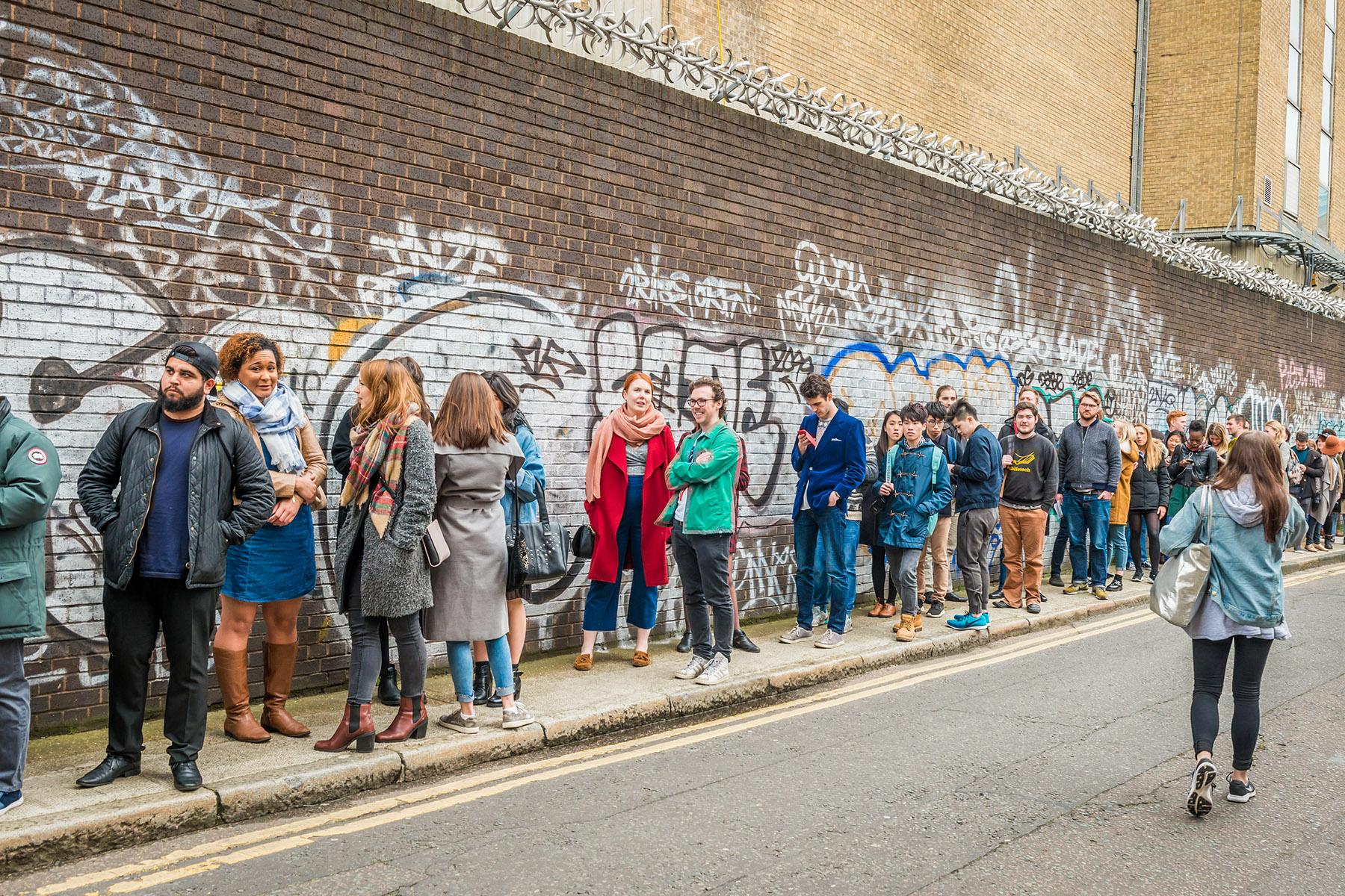 A queue in London