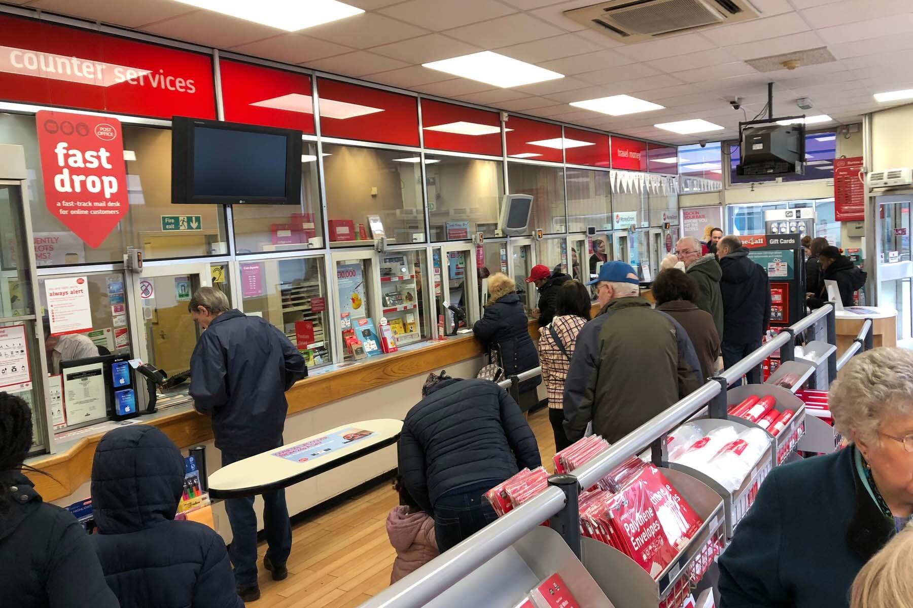 inside uk post office