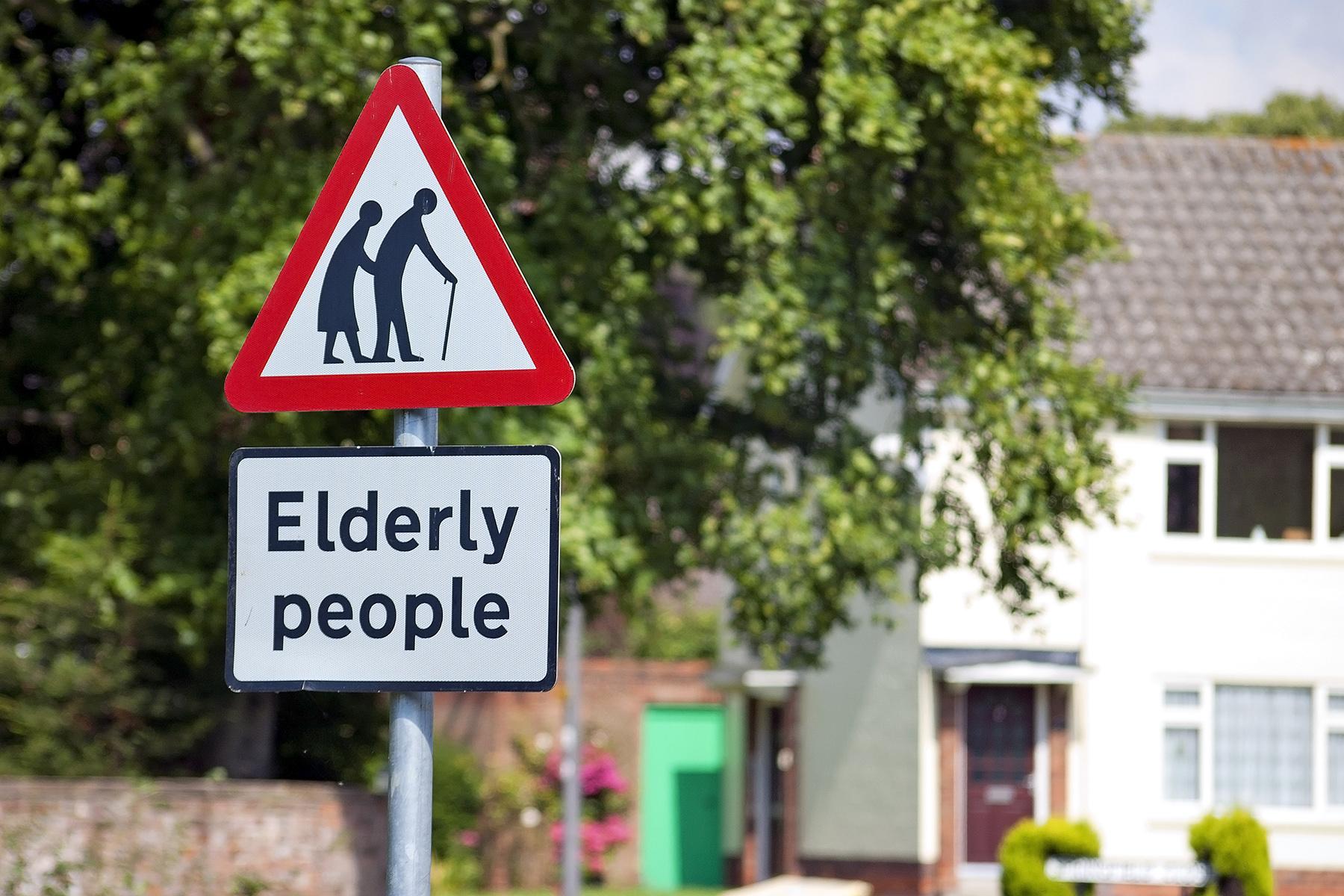 Elderly people road sign in England