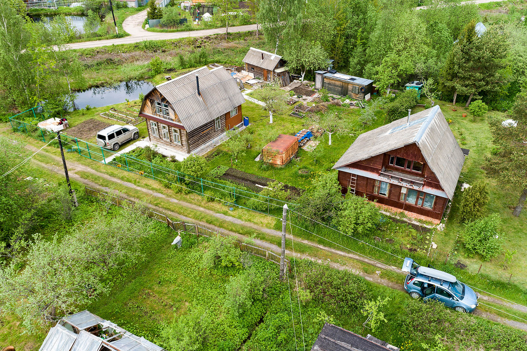 Typical Russian dachas