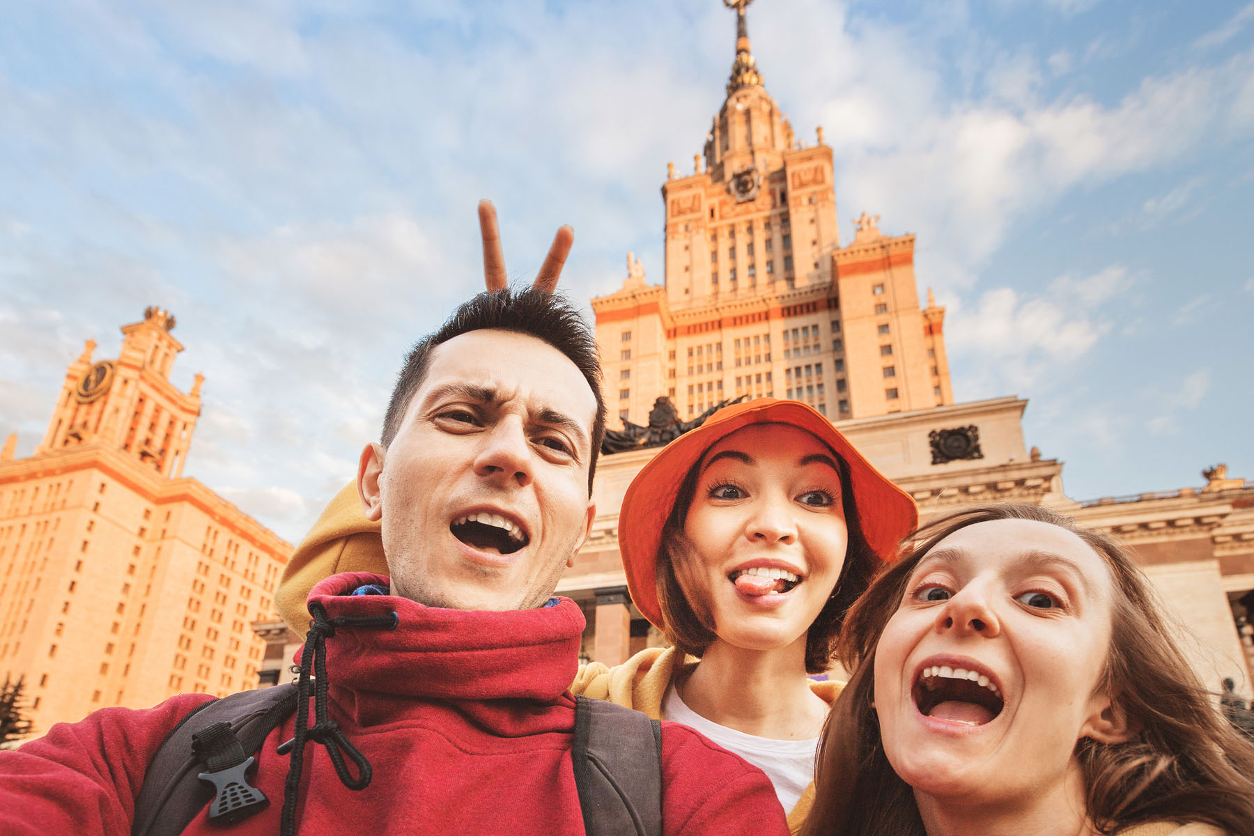 Russian language: students in Moscow