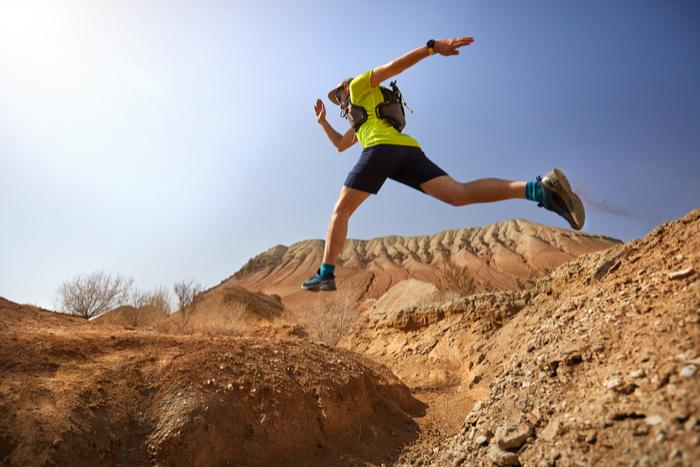 Runner-in-desert