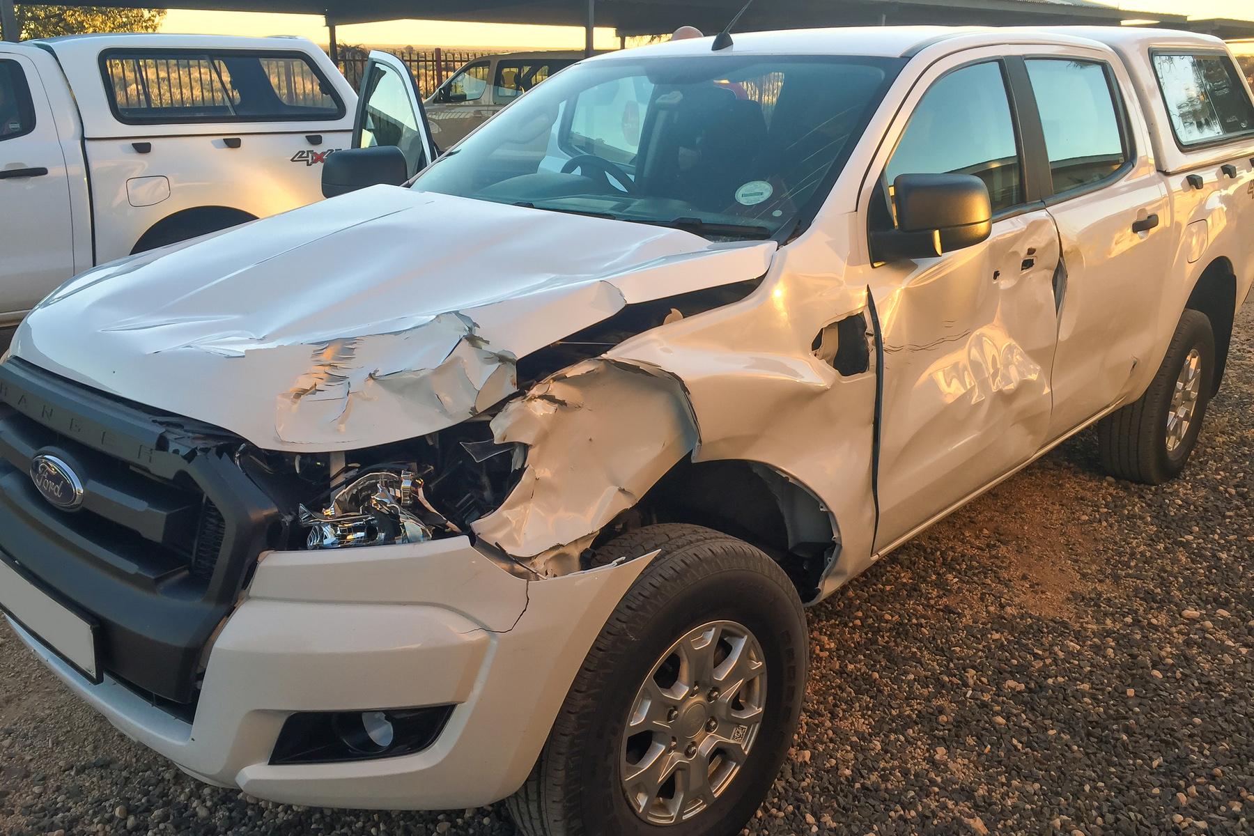 Damaged SUV after a crash