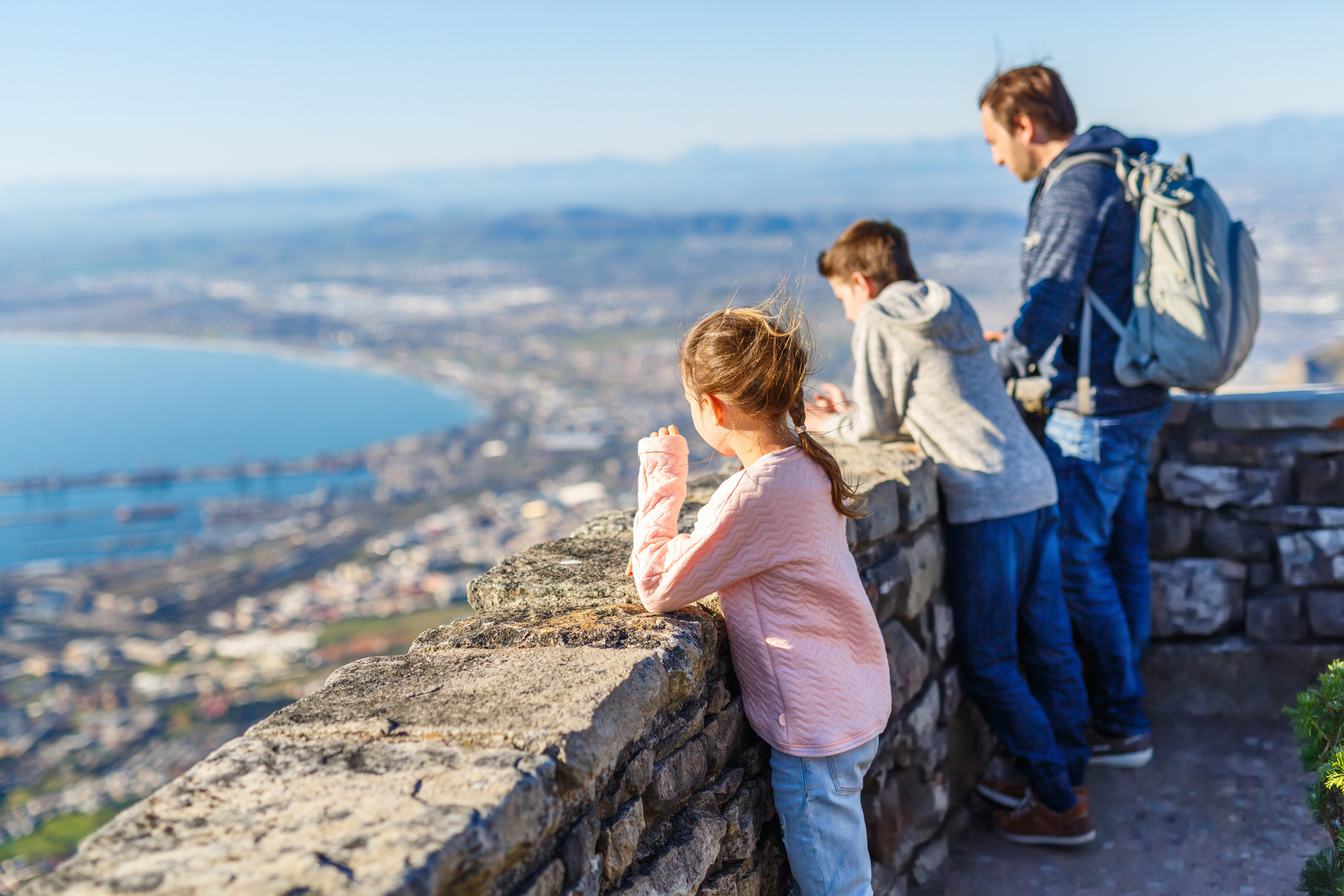 A family traveling in Cape Town