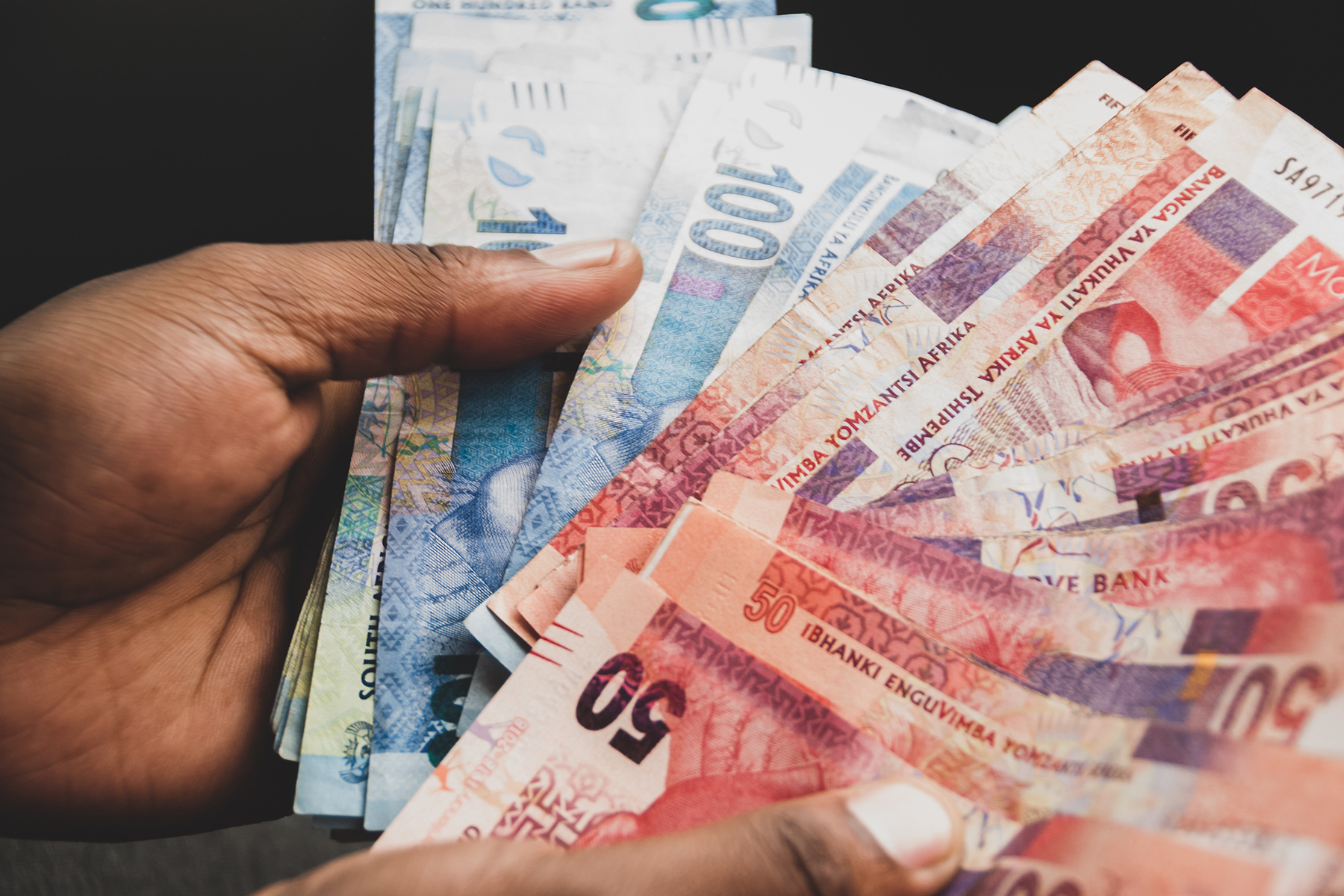 South African rand cash