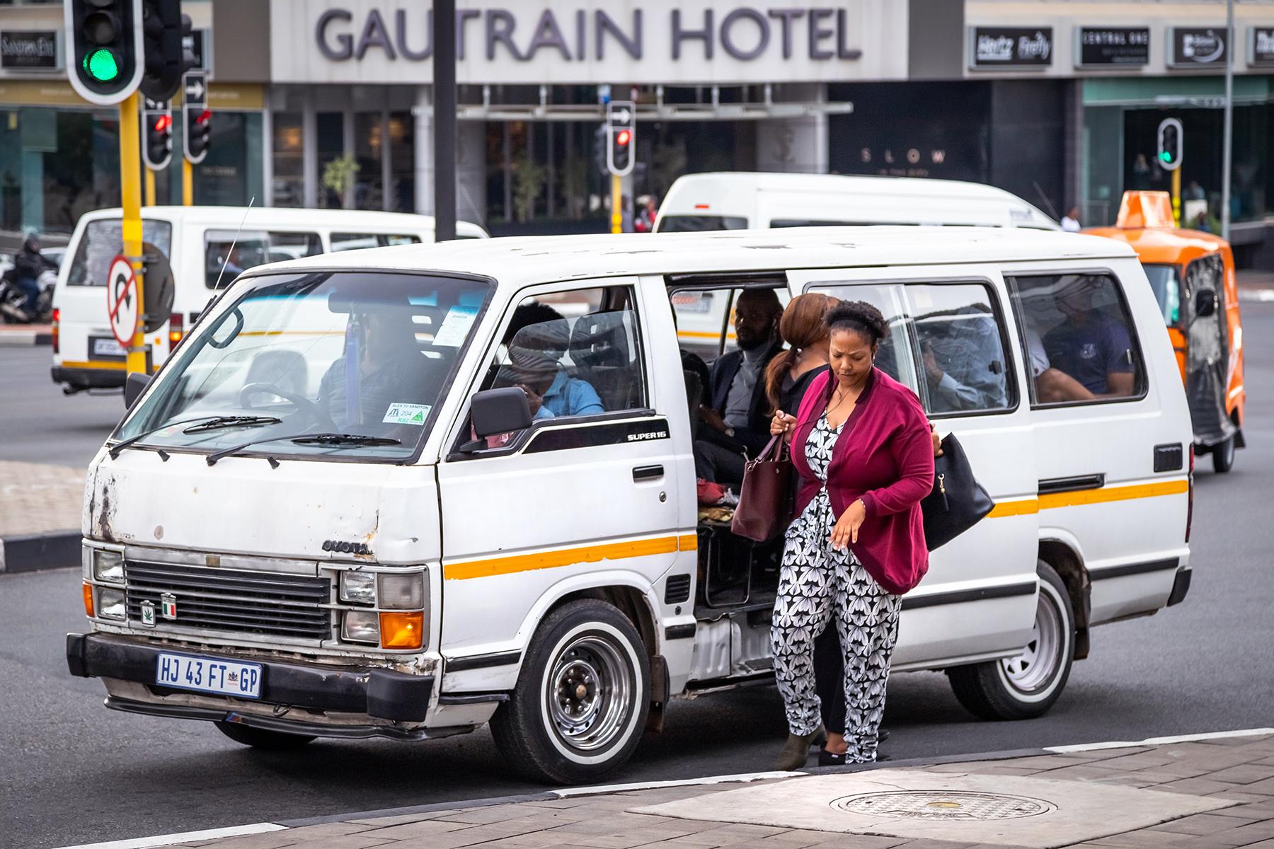 Minibus taxi in Johannesburg