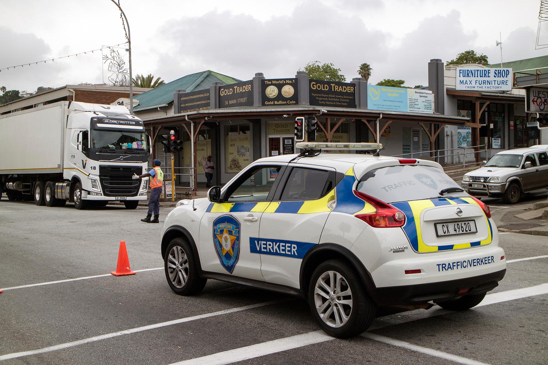 Police car in Knysna