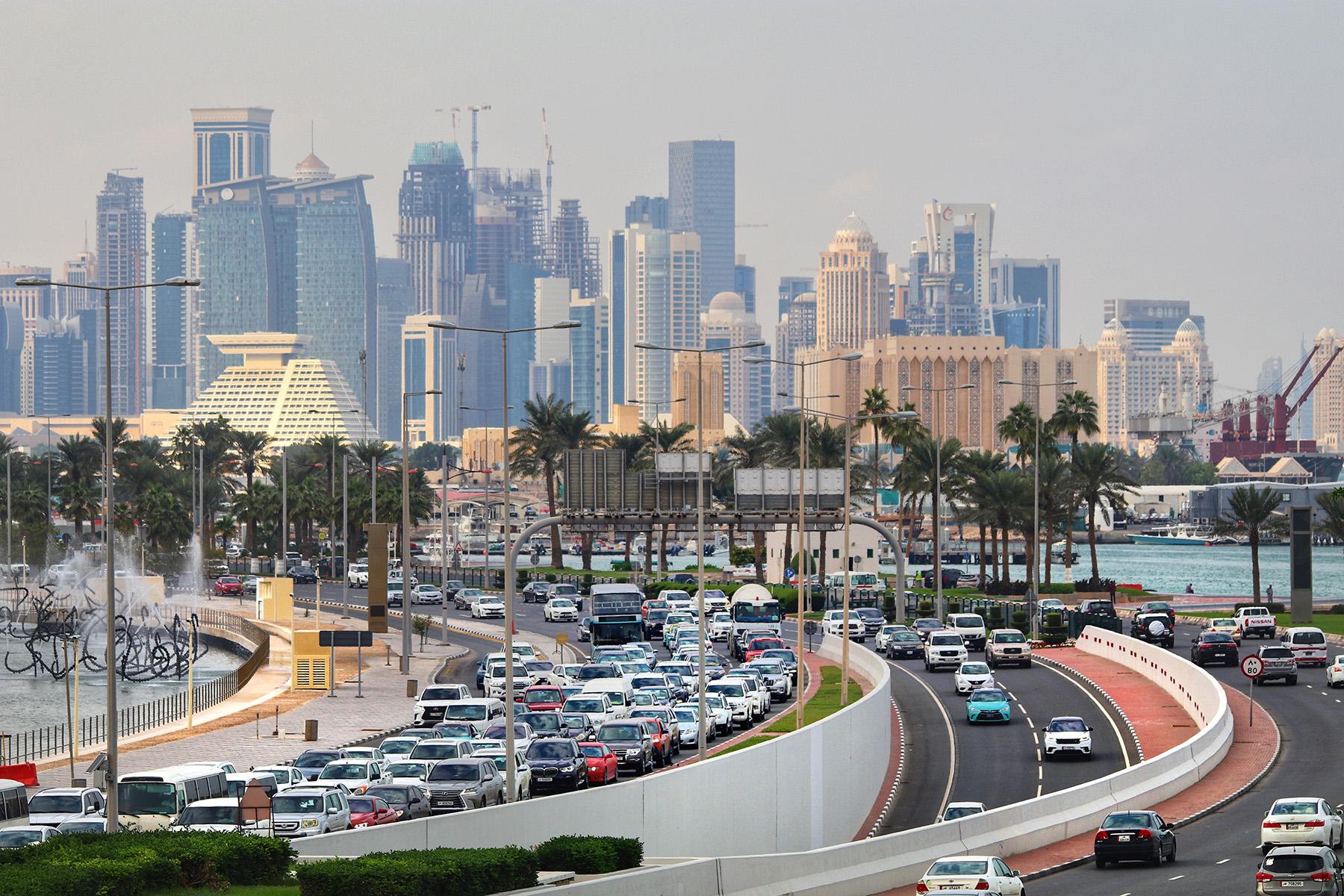 Traffic jam in Doha