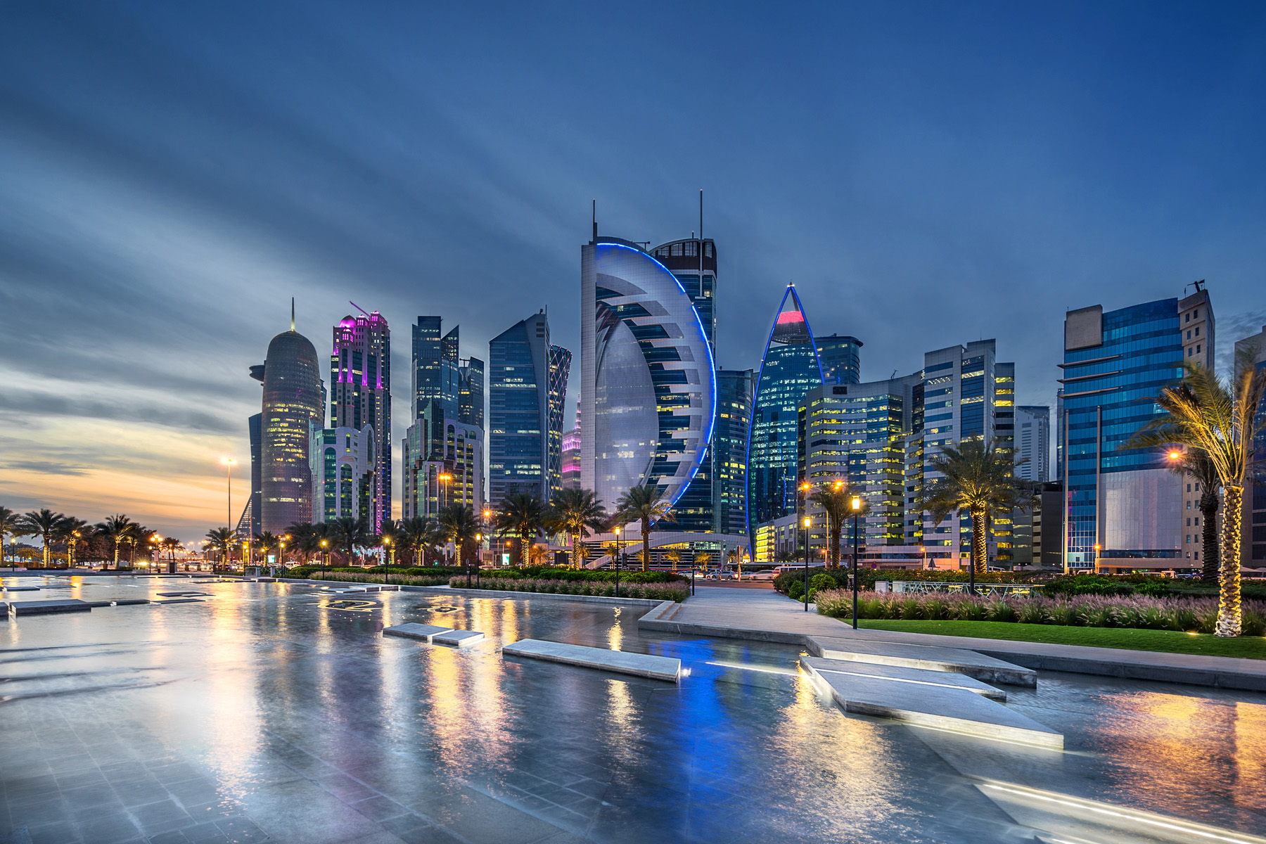 West Bay in Doha