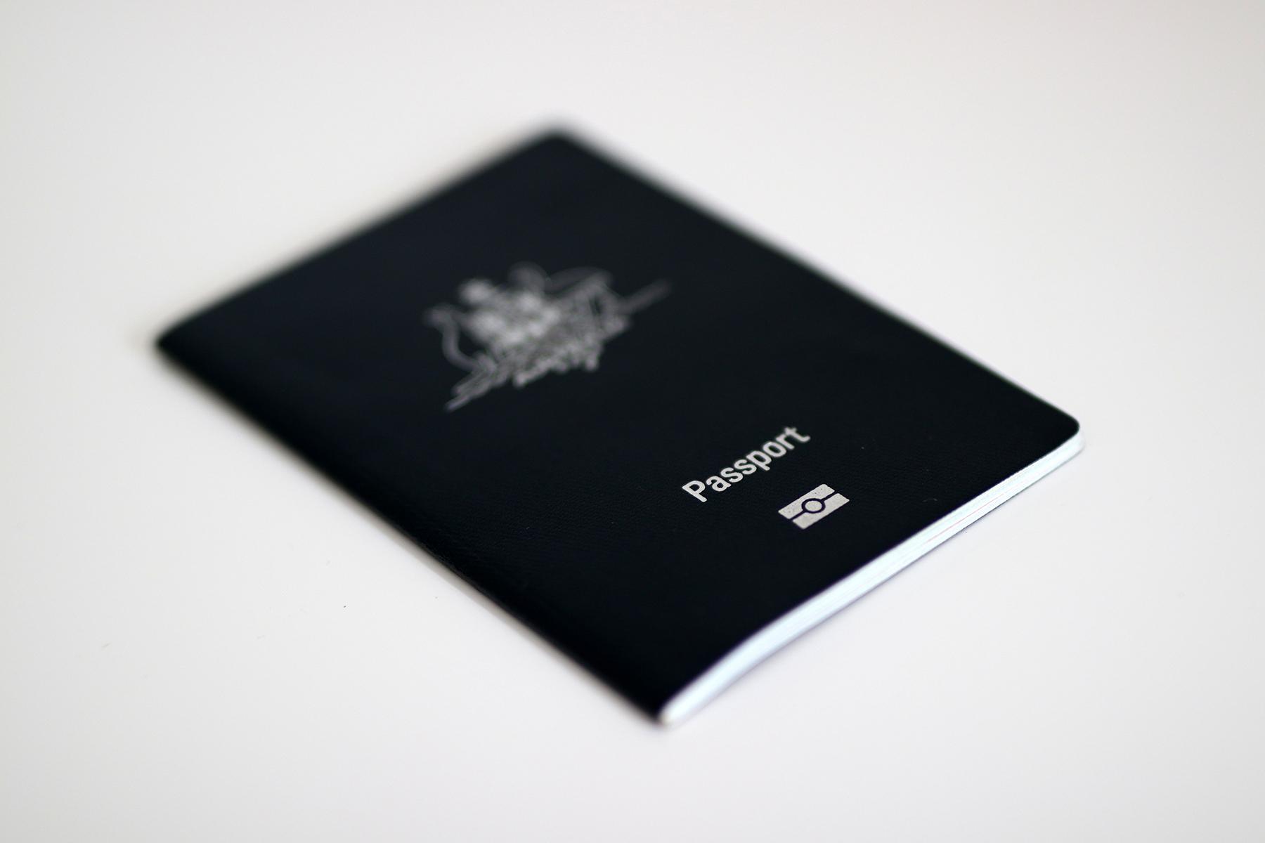 Closeup of an Australian passport