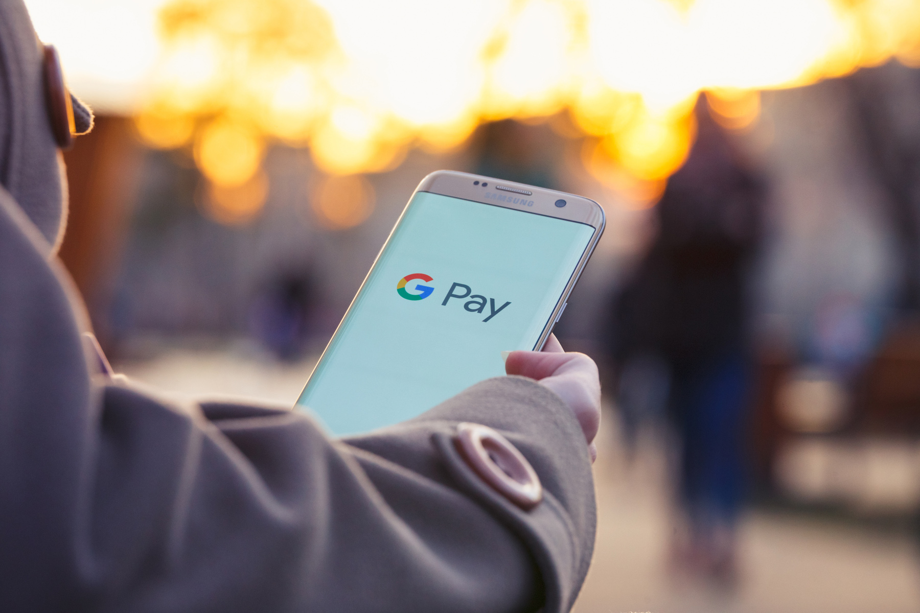 Google Pay on a mobile phone