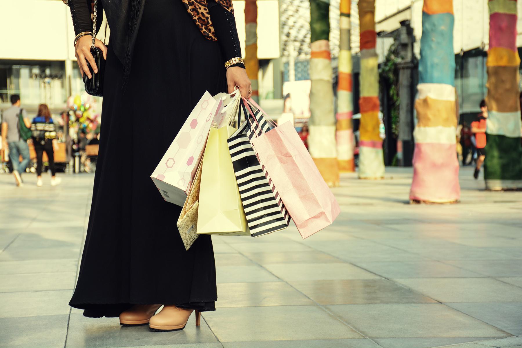 A woman shopping in Qatar
