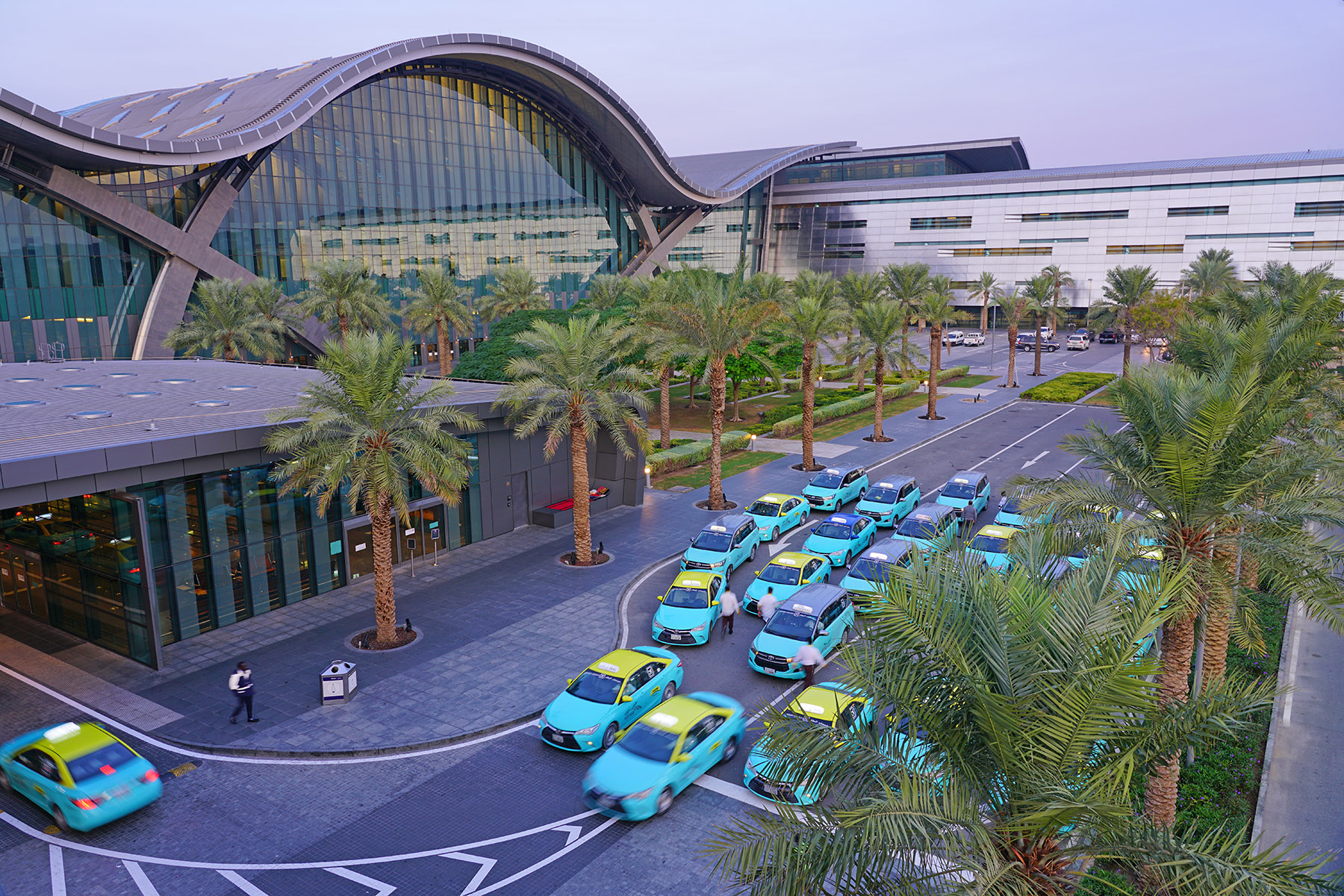 Taxi stand at Hamad International Airport